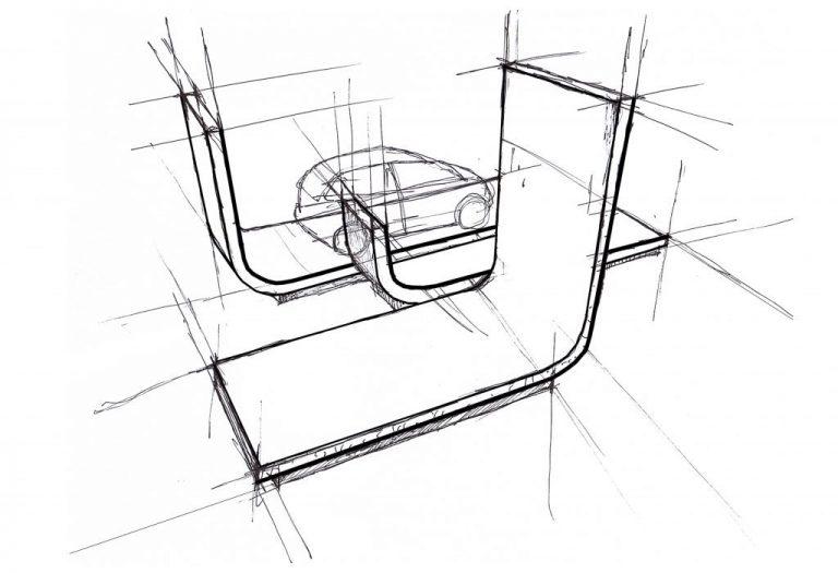 Sector de stands / Arquitectos